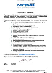 Cemplas Environmental Policy 2018 - 2019