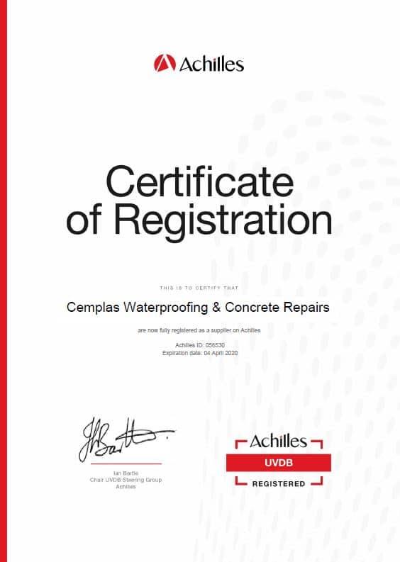 Achilles Certificate