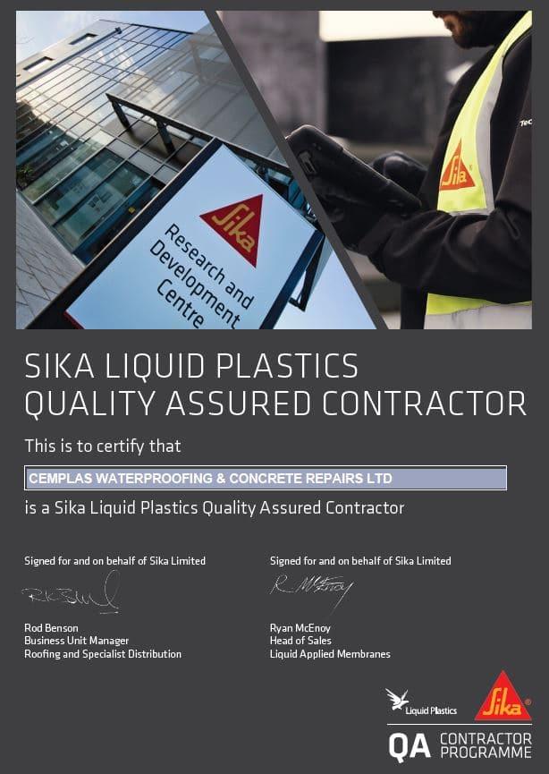 Sika Liquid Plastics QA Contractor!