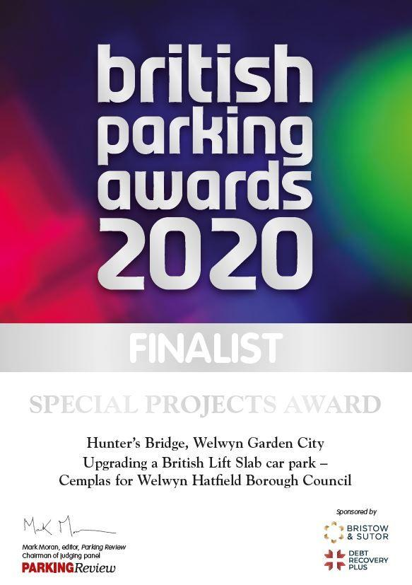 British Parking Awards Certificate