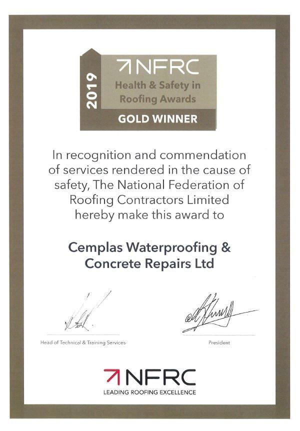 NFRC Gold Certificate
